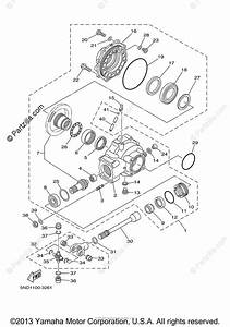 Yamaha Atv 2003 Oem Parts Diagram For Drive Shaft
