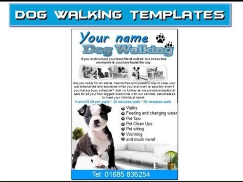 Permalink to Dog Walking Flyer Template Free