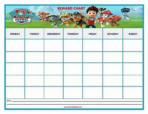 Free Weekly Chore Chart Template Paw Patrol Reward Chart Coloring Pages Pinterest