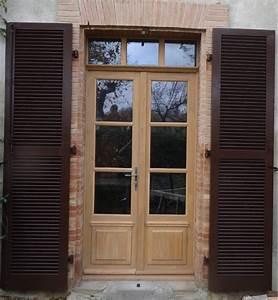 portes fenetres bois With fenetre petit carreaux