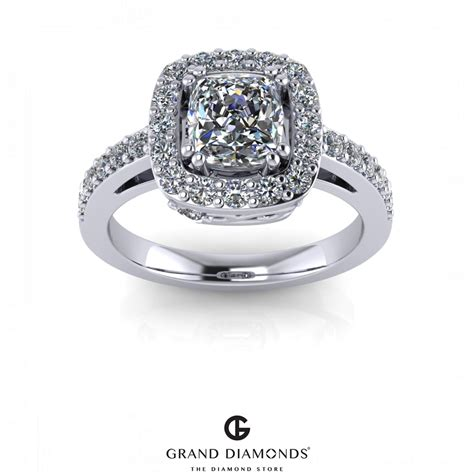engagement rings for halo diamond engagement ring gd522b