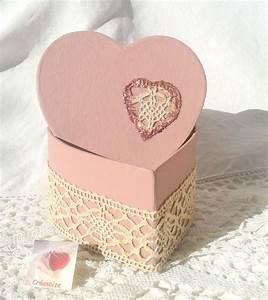 Boite Coffret Cadeau Vide : boite forme coeur boite bijoux coffret secret emballage cadeau vide poche carton rose ~ Teatrodelosmanantiales.com Idées de Décoration