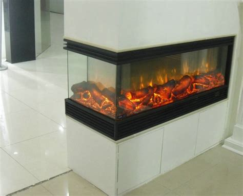 sided fireplace insert decor 3 sided electric fireplace heater