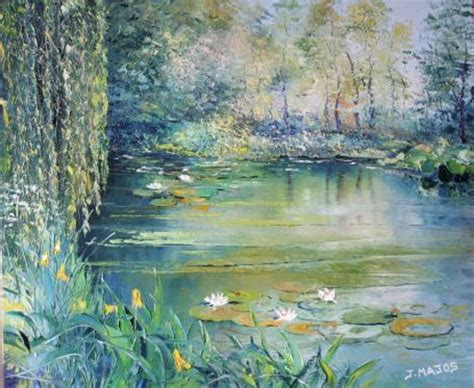 Jardin De Giverny Canvas by Le Jardin De Giverny Oil On Canvas Jacques Majos