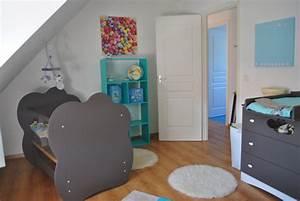 deco chambre bebe bleu et taupe With chambre bleu et taupe