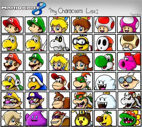 Mario Kart 8 My Characters List By Superlakitu On Deviantart