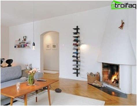 Dzīvojamās istabas ar kamīnu dizains un interjers ...