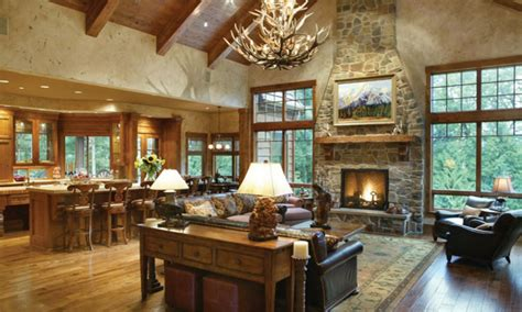 rustic open floor plans  ranch style homes open floor plans craftsman style rustic style