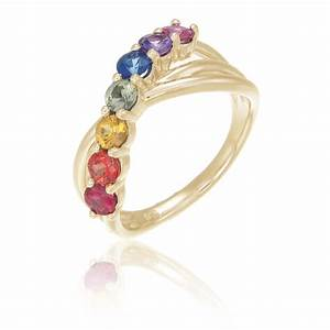 mens rainbow engagement ring wedding band 14k yellow by With rainbow wedding rings