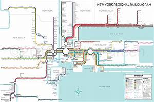 Unofficial Map  New York Regional Rail By Carter