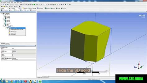 ansys design modeler basic tutorial  blend