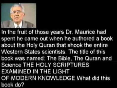 the quran and modern science by dr maurice bucaille pdf why dr maurice bucaille accepted islam