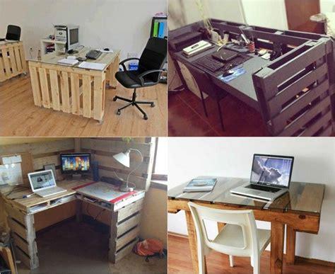 le bureau blanche bureau en bois 34 idées diy très cool en palette europe