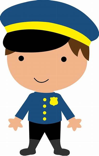Community Police Helpers Clipart Clip Officer Policeman