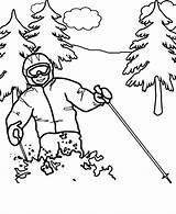Coloring Pages Winter Olympics Printable Skiing Ski Alpine Popular Scribblefun sketch template