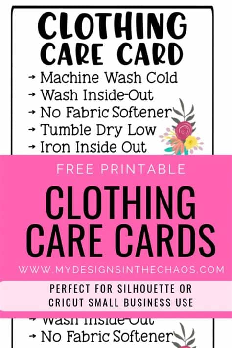 Free icons of care instructions in various ui design styles for web, mobile, and graphic design projects. Printable Clothing Care Cards | Clothing care, Printable ...
