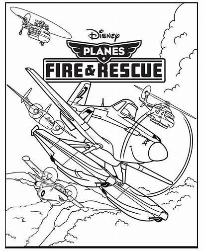 Planes Coloring Pages Dusty Fire Rescue Activity