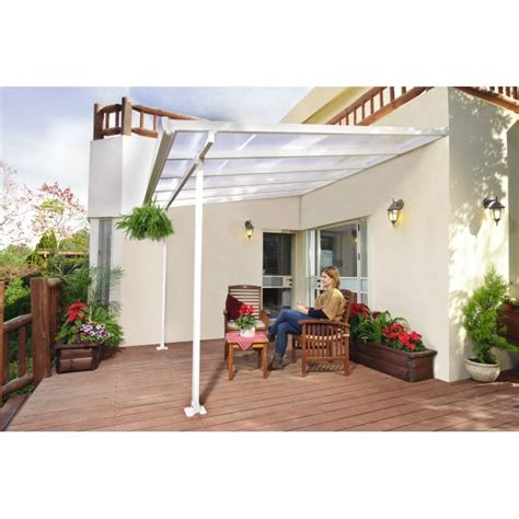 palram 10x10 feria patio cover kit white hg9310