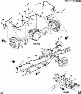 2000 Chevrolet Silverado Brake Lines  Rear