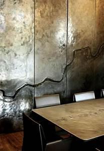 Wand Metallic Effekt : wandfarbe mit metalleffekt ~ Michelbontemps.com Haus und Dekorationen