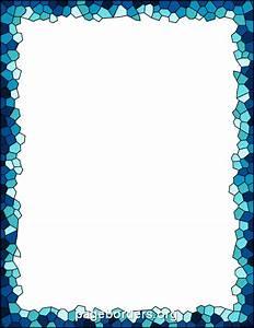 Free Mosaic Border DESCRIPTION Blue mosaic border. The ...