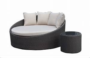 norme europenne de jardin en rotin extrieur canaplit rond With tapis exterieur avec canapé lit steiner