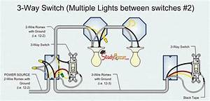 2 Switches 1 Light Wiring Diagram