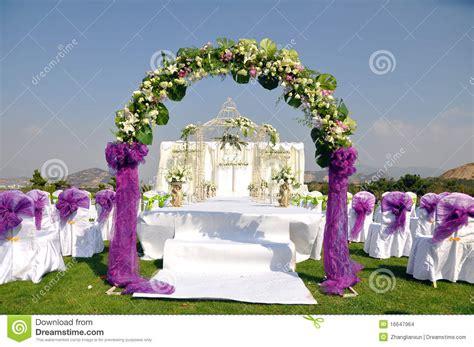 outdoor wedding scene stock images image