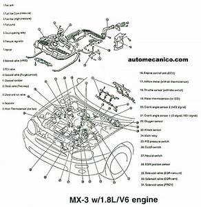 Mazda - Ubicacion De Sensores Y Componentes - Light Trucks - Suvs - Vans 1991  2002