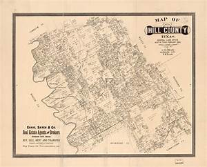 Printed Resources Map Of Hill County Texas General Land Office Austin