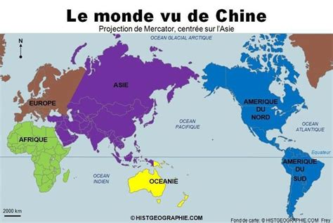 cuisine actuele le monde vu de chine projection mercator source