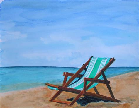 Beach Chair Paintings Sadgururockscom