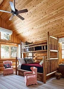 deco chalet de montagne moderne ou traditionnelle With tapis chambre enfant avec canapé convertible bois montagne