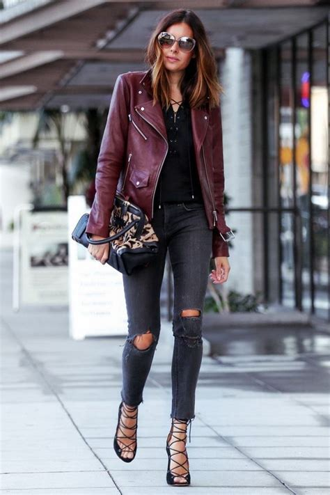 29 Best Fall Leather Jacket Outfits To Pin Right Now - Styleoholic