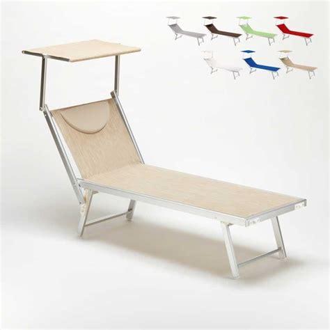 beach lounger  adjustable backrest  canopy idfdesign