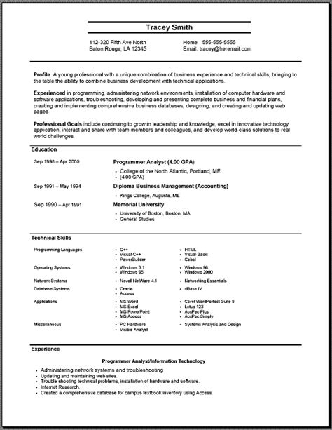 resume format template my resume templates