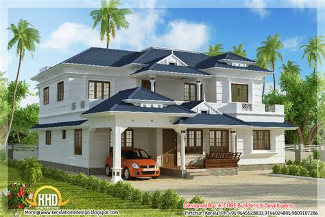 house plans with and bathroom 4 bhk kerala style house elevation 3074 sq ft home