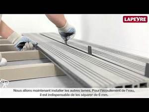 Pose Lame Terrasse Composite : poser des lames de terrasse youtube ~ Premium-room.com Idées de Décoration