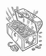 Pirate Coloring Treasure Pages Pirates Chest sketch template