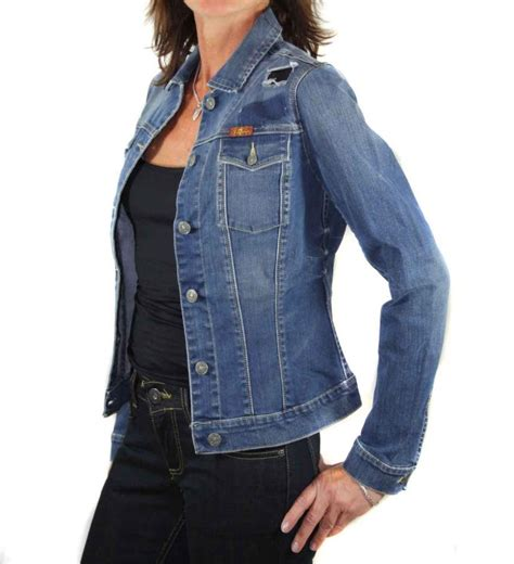 coole jeansjacken damen 7 for all mankind damen jeansjacke nieten d86 gr xxs ebay