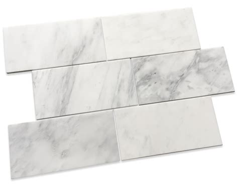 carrara pietra marble honed 6x12 quot subway floor and wall tile