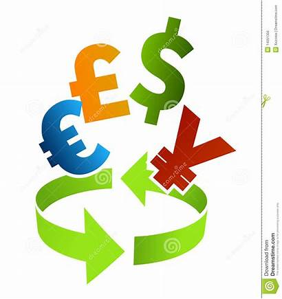 Currency Clip Clipart Converter Exchange Foreign Symbols
