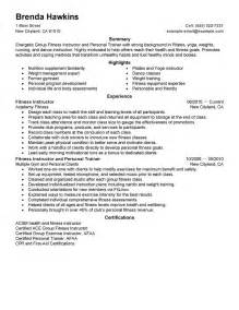 Personal Resume Template Personal Trainer Resume Healthcare Guide