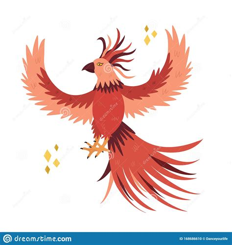 Bear claw hangry svg file. Fantastic Bird Phoenix In A Flat Style. Stock Vector ...
