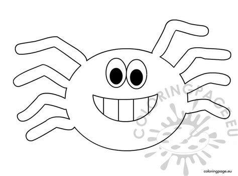 halloween spider coloring sheet coloring page