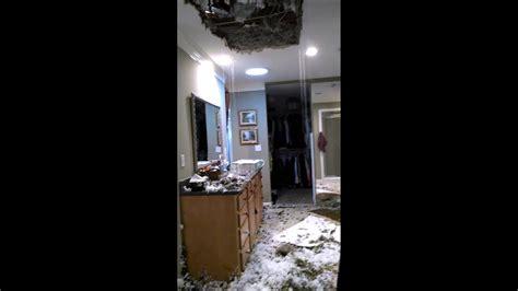 ceiling falls   water  pipe burst water damage
