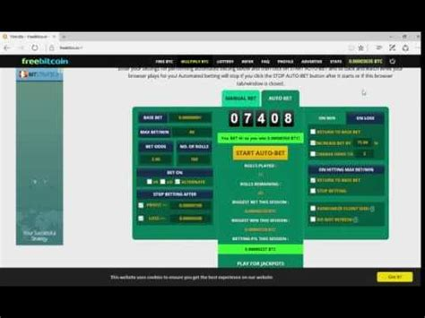 I've started this site, because i wanted to share i've been involved in this activity since the beginning of 2014 year and have been trying various methods of how to earn using bitcoin currency. BTC: How to earn BitCoin in bet game on freebitco.in