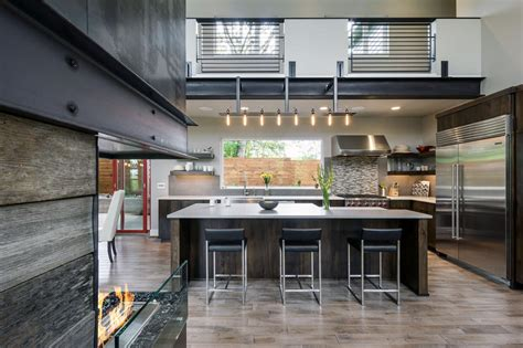 modern industrial chef style kitchen  professional