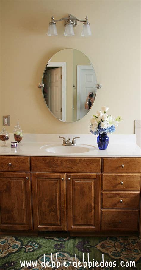 removing builder grade bathroom mirrors debbiedoos