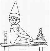 Elf Coloring Pages Shelf Printable Cool2bkids sketch template